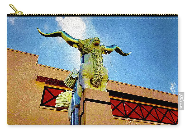 Lawerence Tenney Steven's Carry-all Pouch featuring the mixed media The Woofus - State Fair Of Texas by Robert J Sadler