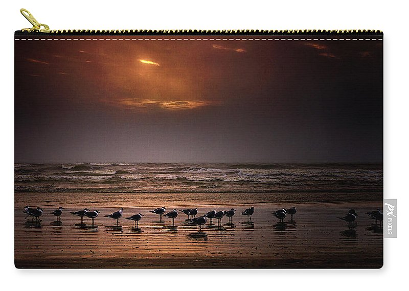Water's Edge Carry-all Pouch featuring the photograph Theres Gotta Be Food Around Here by Dean Fikar