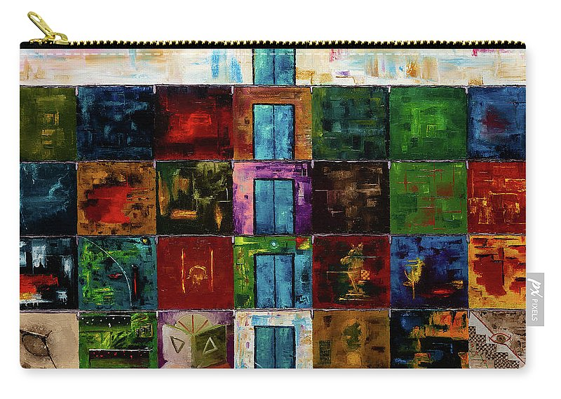 Thirty Rooms Carry-all Pouch featuring the painting Thirty Rooms by Anton Vishnevskiy