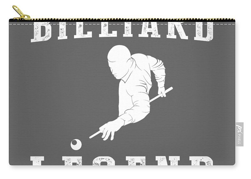 This Is Carry-all Pouch featuring the digital art This Is What The Back Of A Billiard Legend Looks Like by Do David