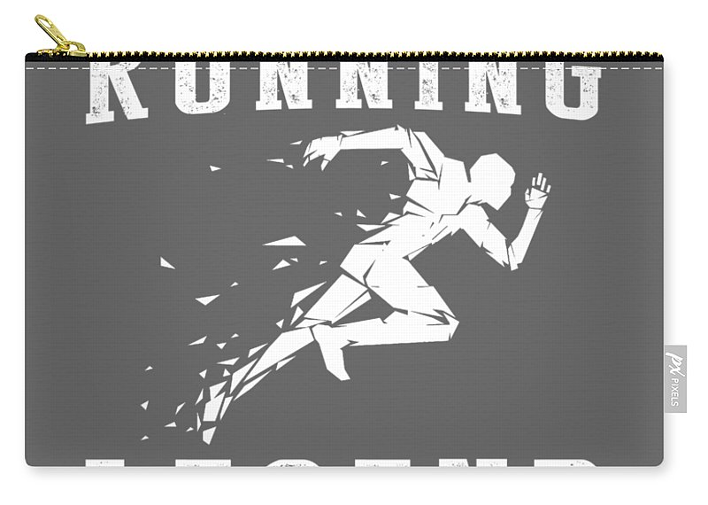 This Is Carry-all Pouch featuring the digital art This Is What The Back Of A Running Legend Looks Like by Do David