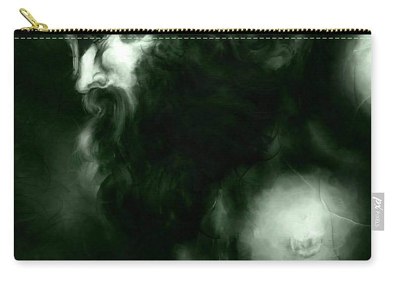 Thor Carry-all Pouch featuring the mixed media Thor by Curtiss Shaffer