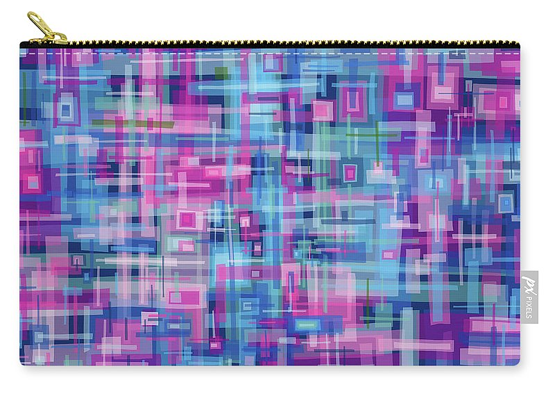 Nonobjective Carry-all Pouch featuring the digital art Thought Patterns #4 by James Fryer