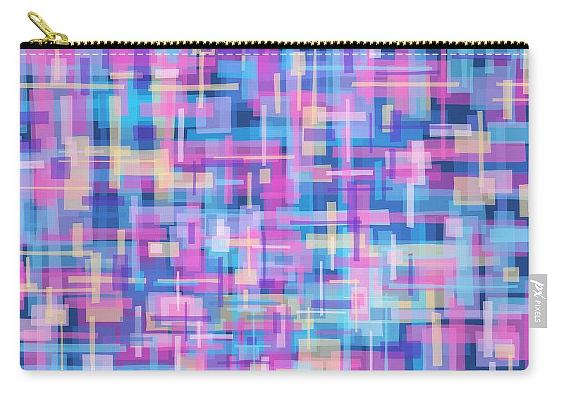 Nonobjective Carry-all Pouch featuring the digital art Thought Patterns #5 by James Fryer
