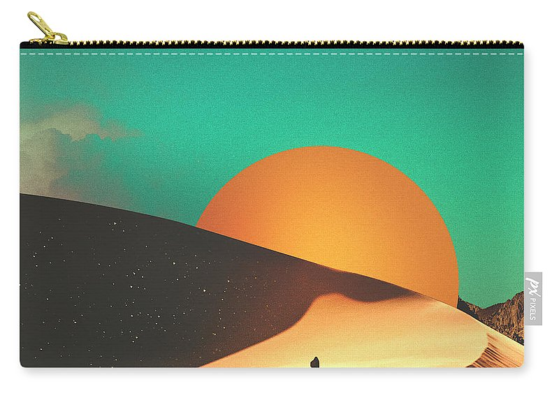 Collage Carry-all Pouch featuring the digital art Thrist by Fran Rodriguez