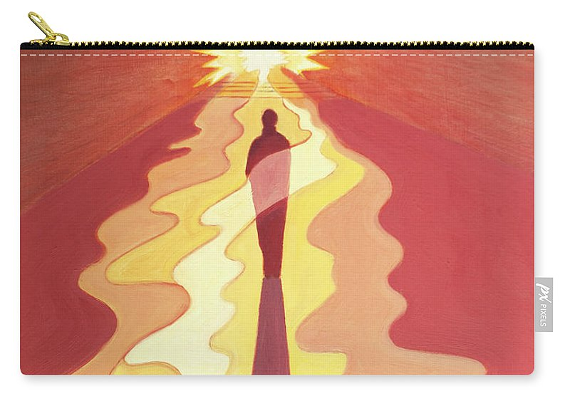 Contrition Carry-all Pouch featuring the painting Through Contrition, Repentance, Penance, Darkness And Suffering We Are Purified And Prepared by Elizabeth Wang