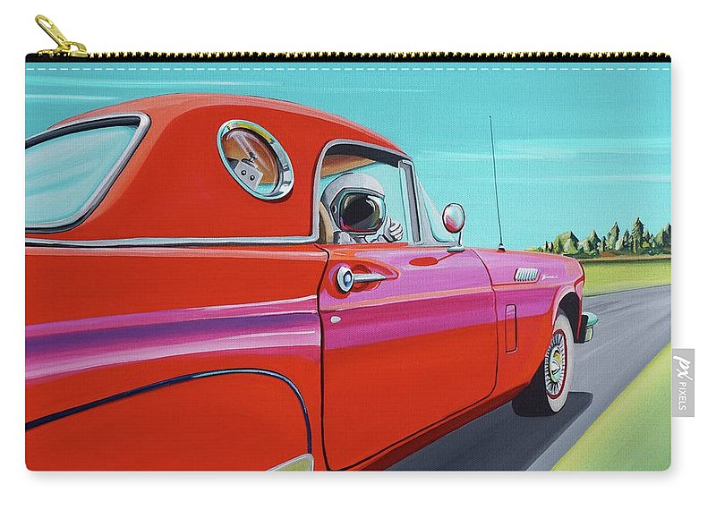 Car Carry-all Pouch featuring the painting Thunderbird by Cindy Thornton