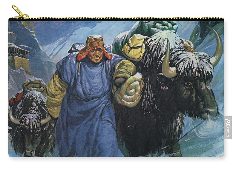 Tibet Carry-all Pouch featuring the painting Tibet by Angus McBride