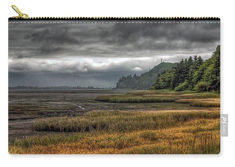 Scenics Carry-all Pouch featuring the photograph Tillamook Estuary by Photo By Ryan J. Zeigler