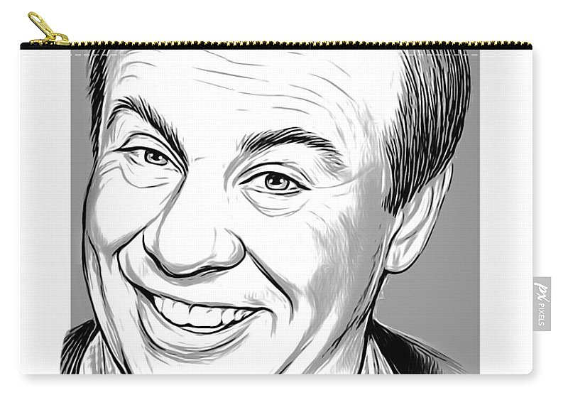 Tim Conway Carry-all Pouch featuring the drawing Tim by Greg Joens