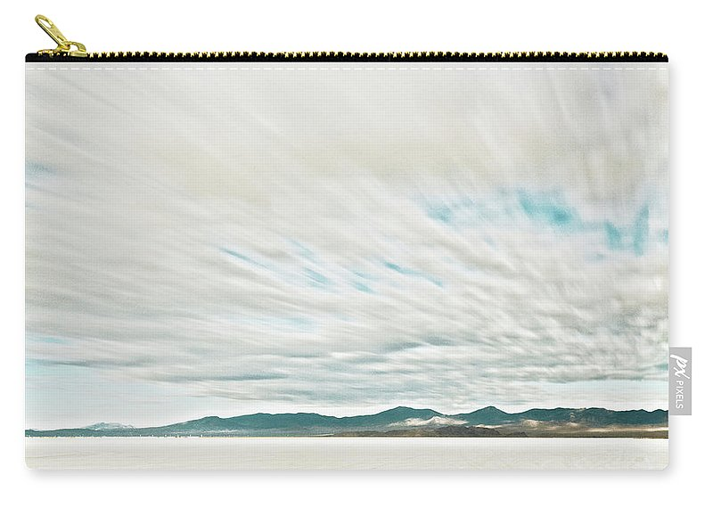 Tranquility Carry-all Pouch featuring the photograph Time Exposure Clouds In Motion Above by Andy Ryan