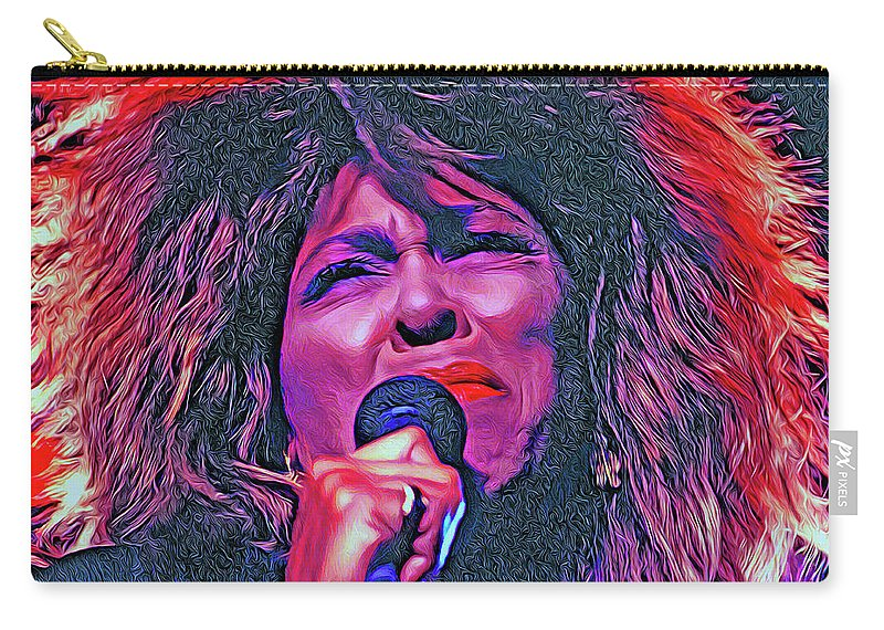 Tina Turner Carry-all Pouch featuring the photograph Tina Turner by Mal Bray