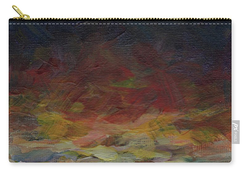 Sunset Carry-all Pouch featuring the painting Tiny Sunset by Susan Moore