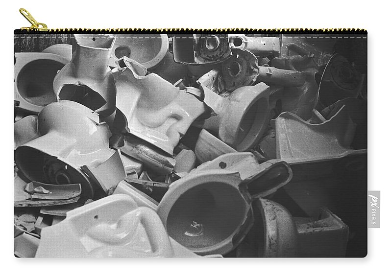 Landscape Carry-all Pouch featuring the photograph Toilets by Jamie Alicia Ary