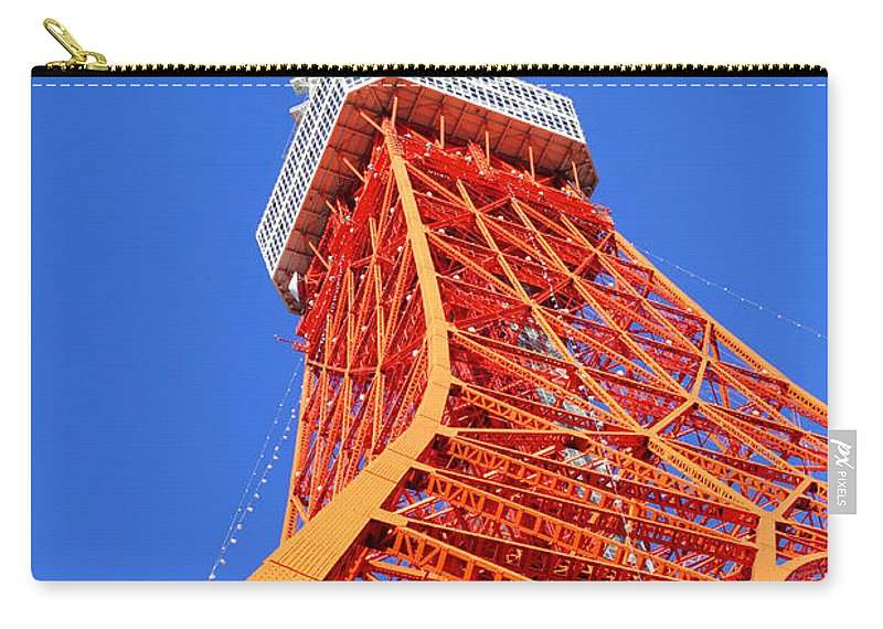 Tokyo Tower Carry-all Pouch featuring the photograph Tokyo Tower by Ngkaki
