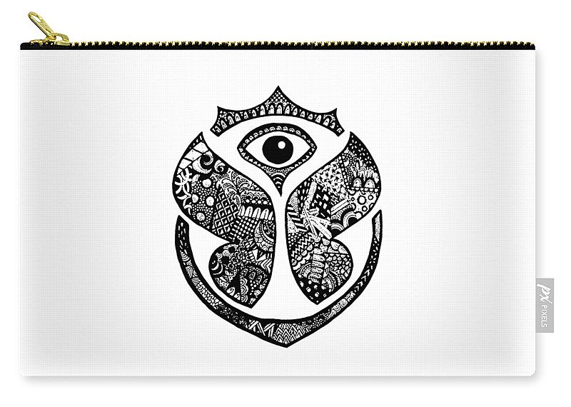 Tomorrowland Carry-all Pouch featuring the digital art Tomrrowland by Marco Ferrari