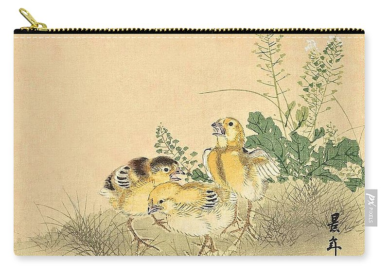 Bird Carry-all Pouch featuring the painting Top Quality Art - Keinen Kachoshokan 12view 3 by Imao Keinen