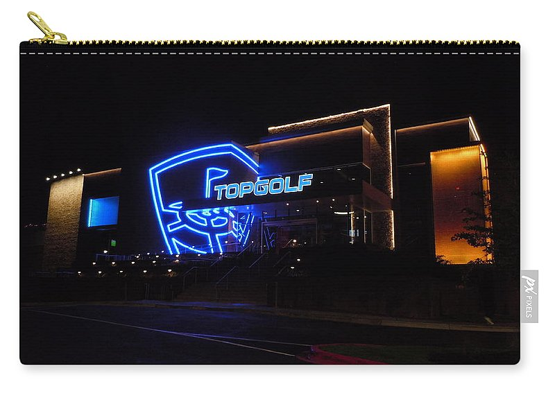 Topgolf Carry-all Pouch featuring the photograph Topgolf 1 by Timothy Smith