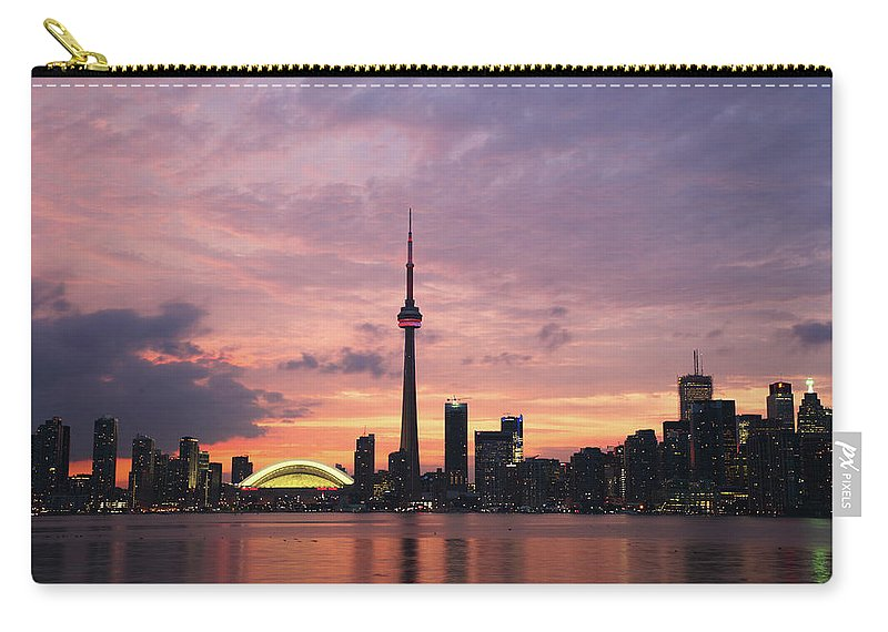 Lake Ontario Carry-all Pouch featuring the photograph Toronto by Js`s Favorite Things