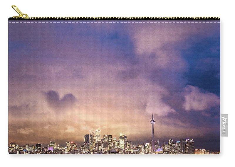 Toronto Carry-all Pouch featuring the photograph Toronto Love by Richard Gottardo - Info@richardgottardo.com
