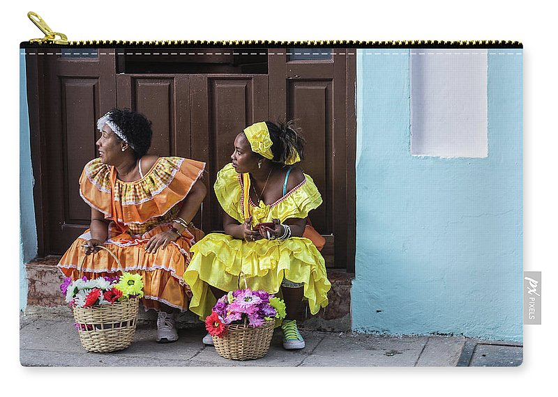 Cuba Carry-all Pouch featuring the photograph Traditional Meets Modern by Jennifer Thomas