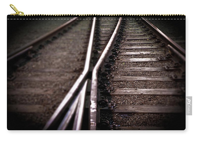 Freight Transportation Carry-all Pouch featuring the photograph Train Line Crossing by Mikulas1