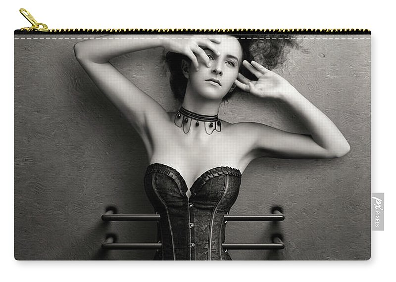 Woman Carry-all Pouch featuring the photograph Trapped by Johan Swanepoel