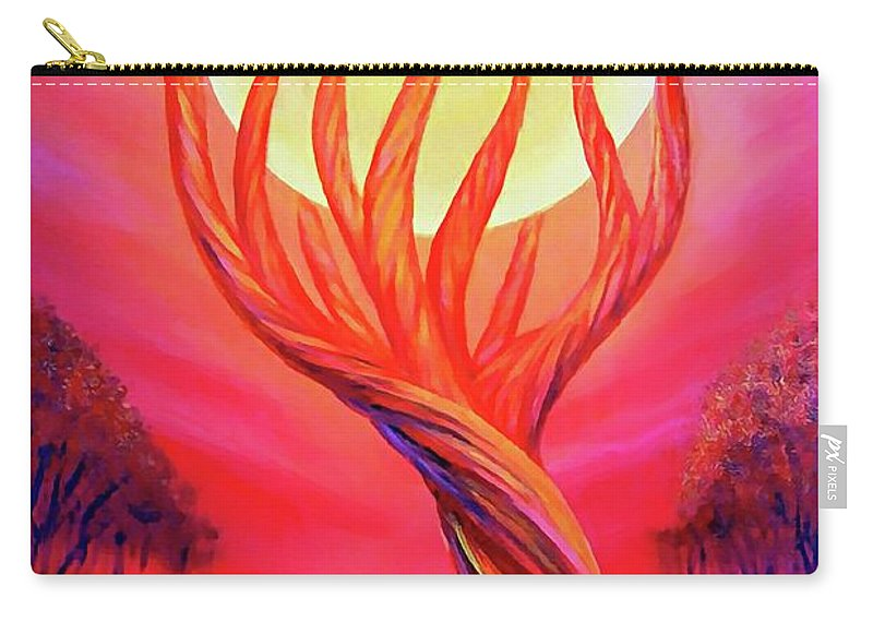 Original Art Carry-all Pouch featuring the painting Trapped Moon by Lilia D