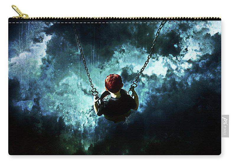 Gothic Carry-all Pouch featuring the digital art Travel Is Dangerous by Mario Sanchez Nevado