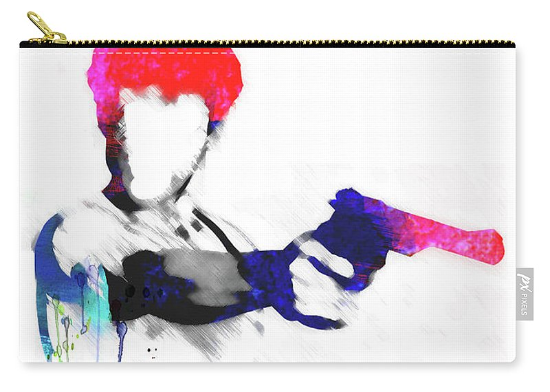 Movies Carry-all Pouch featuring the mixed media Travis Watercolor by Naxart Studio