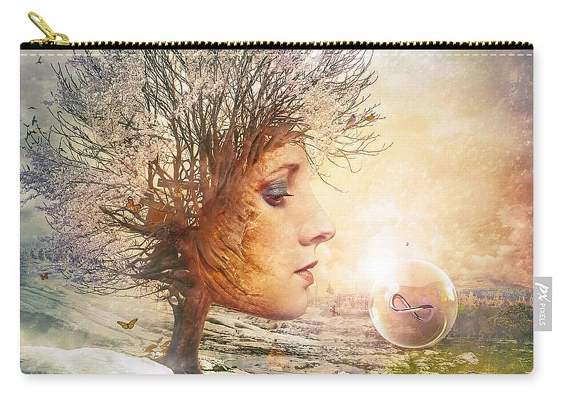 Love Carry-all Pouch featuring the digital art Treasure by Mario Sanchez Nevado