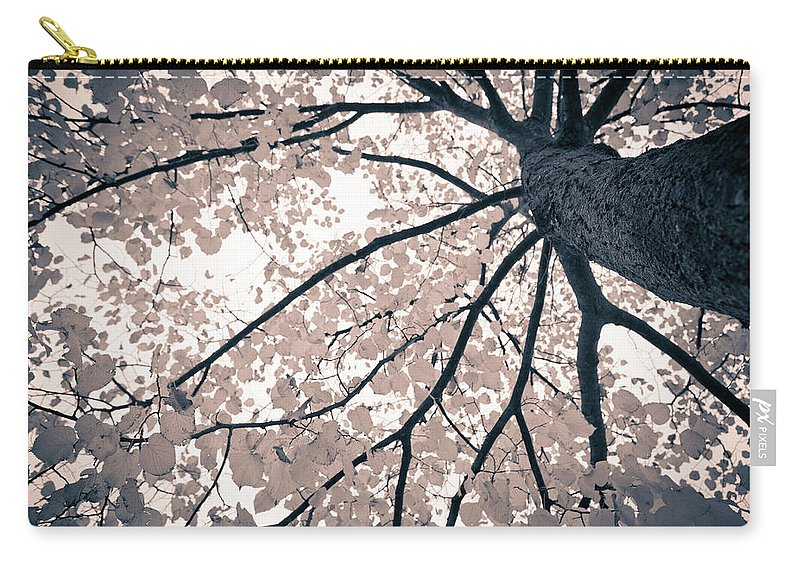 Spray Carry-all Pouch featuring the photograph Tree Branches by Gianlucabartoli