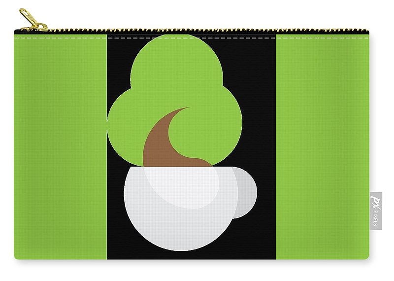 Carry-all Pouch featuring the ceramic art Tree by Donald Alm