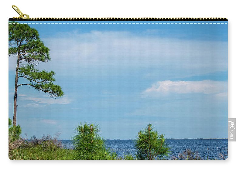 Trees By The Water Carry-all Pouch featuring the photograph Trees By The Water by Robert Anderson