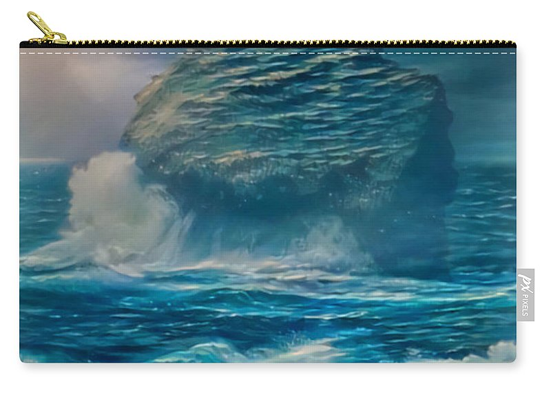 Tropical Daydream Carry-all Pouch featuring the digital art Tropical Daydream Td-39 by Artistic Mystic
