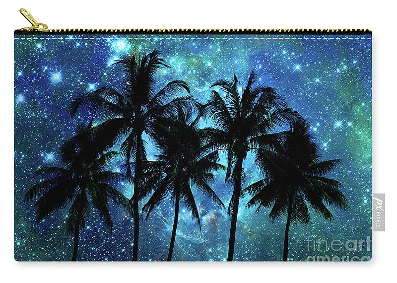 Night Carry-all Pouch featuring the photograph Tropical Night by Delphimages Photo Creations