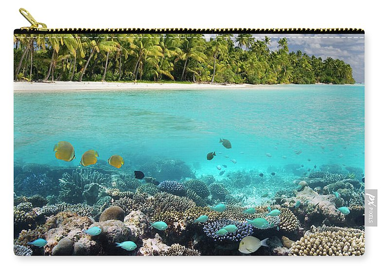 Underwater Carry-all Pouch featuring the photograph Tropical Paradise - The Maldives by Steve Allen