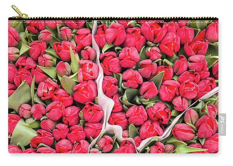 North Holland Carry-all Pouch featuring the photograph Tulips For Sale At A Flower Market by P A Thompson