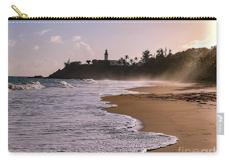 Ocean Carry-all Pouch featuring the photograph Tuna Punta Lighthouse And Beach In Puerto Rico by G Matthew Laughton