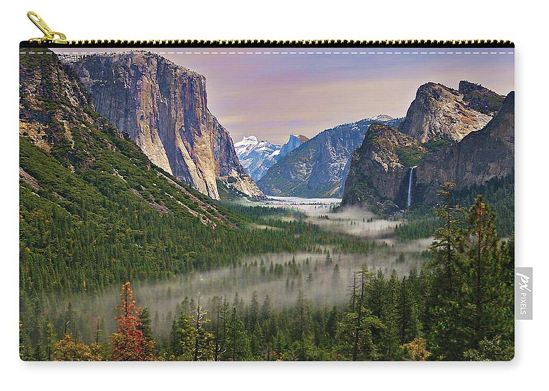 Scenics Carry-all Pouch featuring the photograph Tunnel View. Yosemite. California by Sapna Reddy Photography