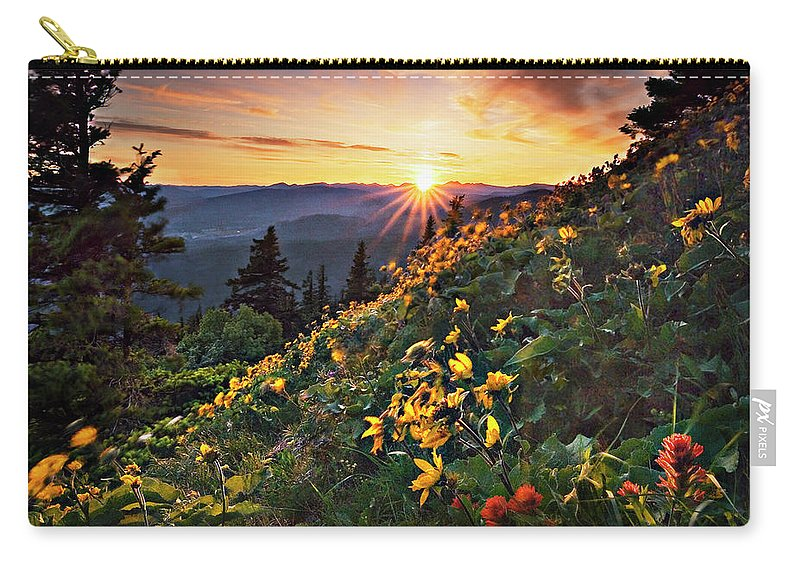 Balsamroot Carry-all Pouch featuring the photograph Twilight Of The Balsamroot by John Christopher