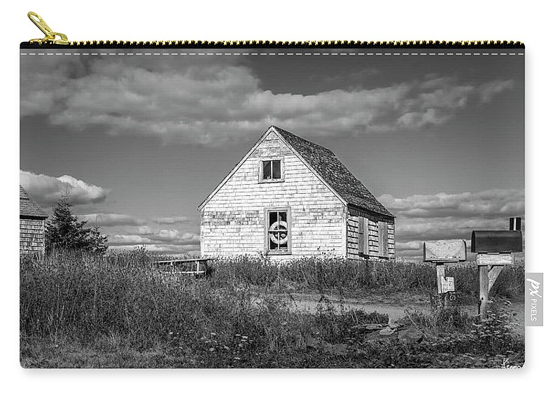 2018 Carry-all Pouch featuring the digital art Two Sheds In Blue Rocks #01 by Ken Morris