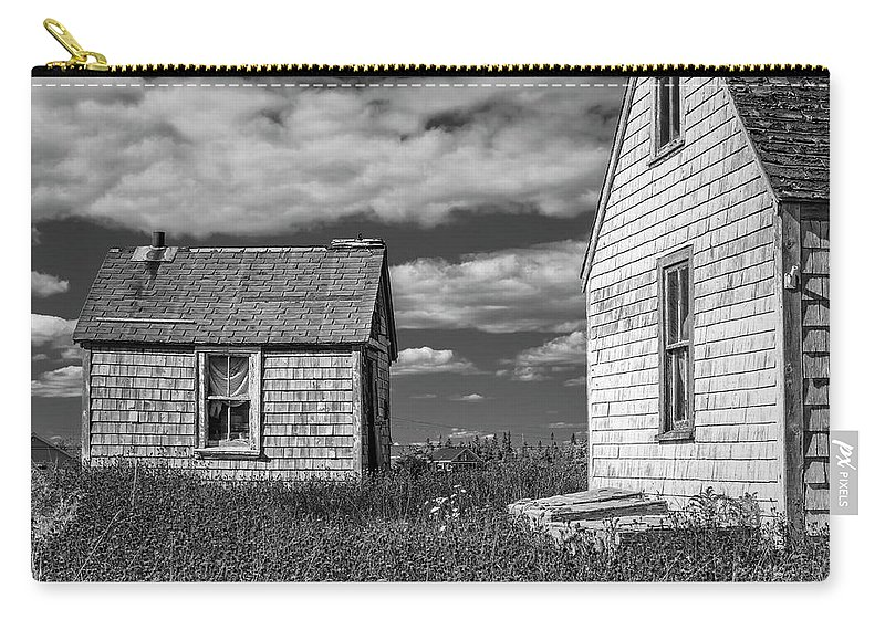 2018 Carry-all Pouch featuring the digital art Two Sheds In Blue Rocks #2 by Ken Morris