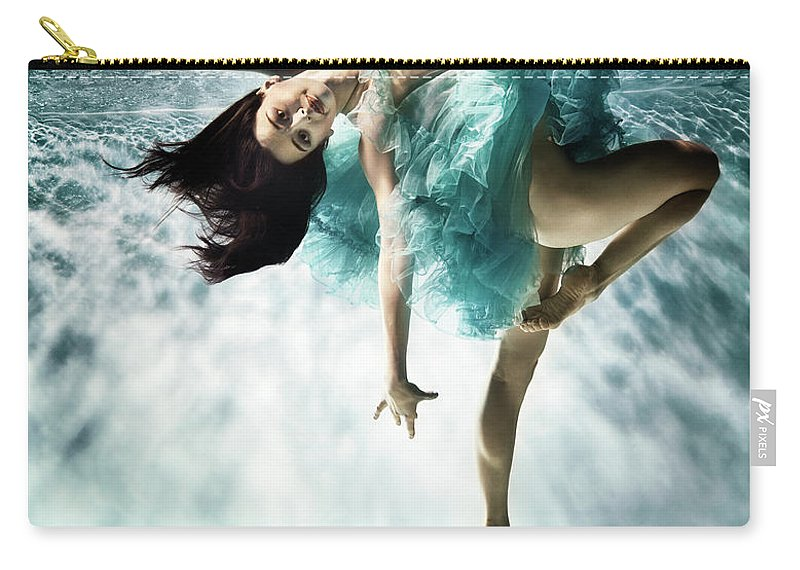 Ballet Dancer Carry-all Pouch featuring the photograph Underwater Ballet by Henrik Sorensen