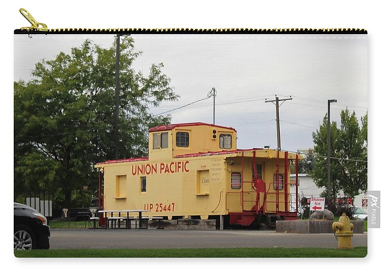 Paul Meinerth Carry-all Pouch featuring the photograph Union Pacific Caboose by Paul Meinerth