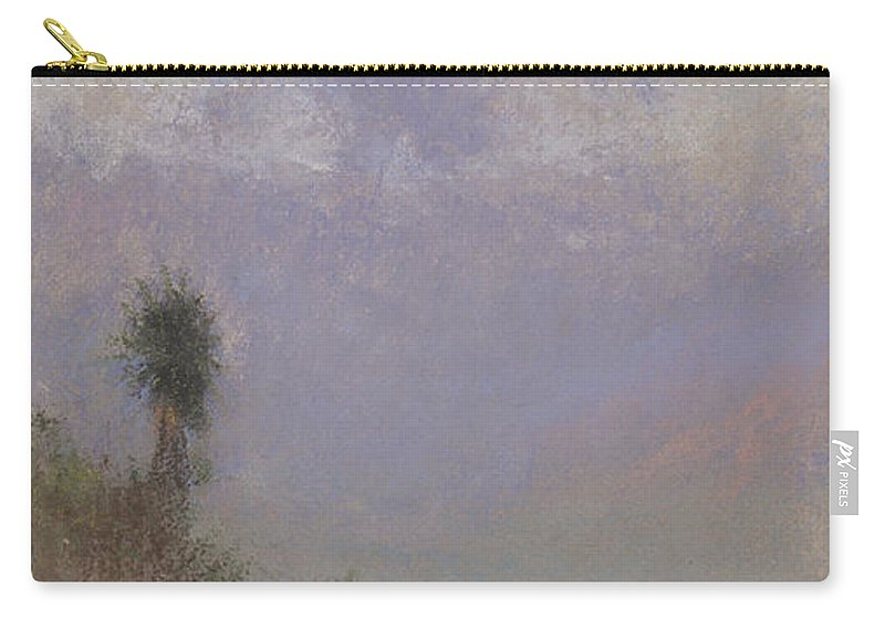 Mountainous Carry-all Pouch featuring the painting Untitled Mountain Landscape, 1920, Pastel by Charles Franklin Reaugh