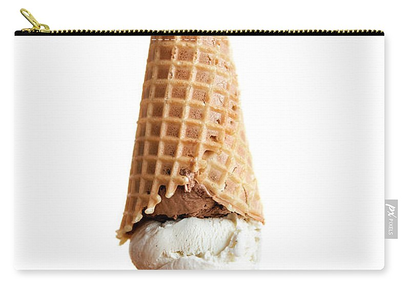 Temptation Carry-all Pouch featuring the photograph Upside Down Ice Cream Cone by Richard Ross