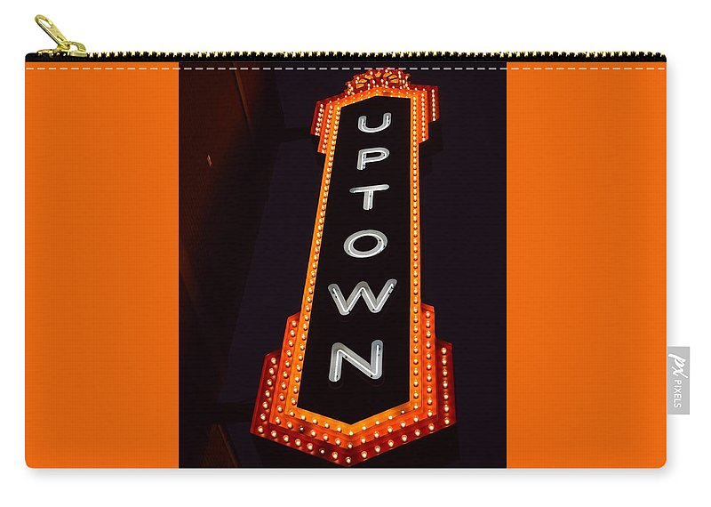 Uptown Carry-all Pouch featuring the photograph Uptown Signage 5 by Timothy Smith