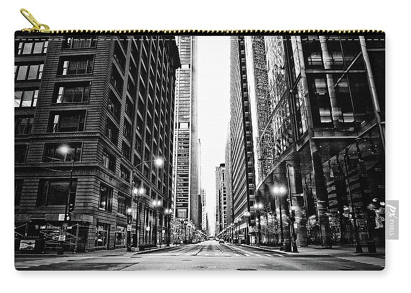 Crosswalk Carry-all Pouch featuring the photograph Urban Chicago City Intersection Of by Nicole Kucera