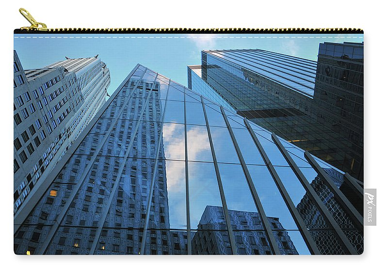 Urban Carry-all Pouch featuring the photograph Urban Skies by Mike Martin
